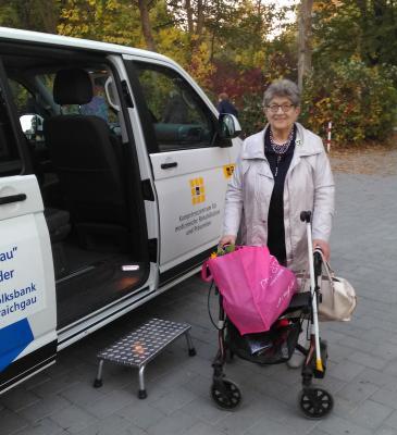 Marianne Huber war der 1000ste Bürgerbus-Fahrgast