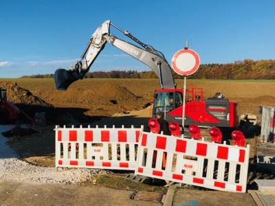 Foto zur Meldung: Beginn der Erschließungsarbeiten am Krähberg III / Weidenstetter Weg