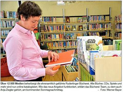 Vorschaubild zur Meldung: Online in der Bücherei stöbern