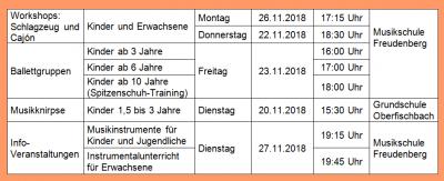 Vorschaubild zur Meldung: Aktuelle Angebote der Musikschule Freudenberg