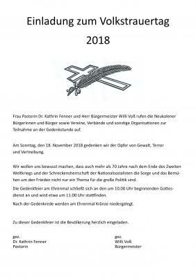 Foto zur Meldung: Einladung zum Volkstrauertag 2018