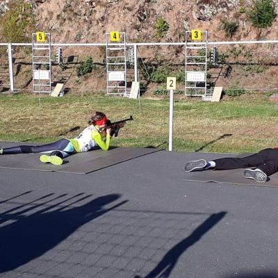 Foto zur Meldung: Biathlon Massenstart -Crosslauf unter Staffelbedingungen in Scheibe-Alsbach