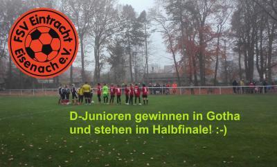 Vorschaubild zur Meldung: Fb-mjD1: Pokal-Viertelfinale: FSV Wacker 03 Gotha II - FSV Eintracht Eisenach