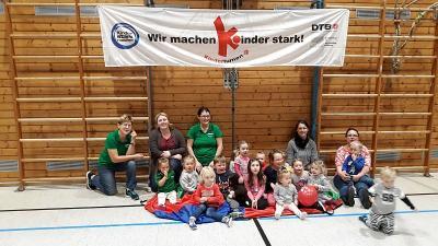 Foto zur Meldung: SV Moosbach macht Kinder stark und gestaltete erstmalig den Tag des Kinderturnens am 13.11.2018