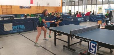 Naya Busse und Pia Höhne werden auch bei den Landesmeisterschaften  im Doppel bei den B - Schülern  an den Start gehen und rechnen sich Chancen auf einen Podestplatz aus