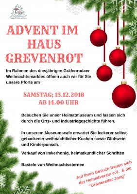 Foto zur Meldung: Advent im Haus Grevenrot