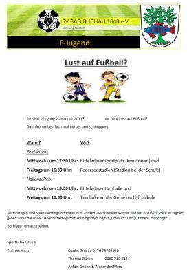 Einladung F-Junioren
