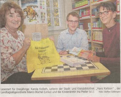 Foto zur Meldung: Konkrete Leseförderung in Bad Freienwalde