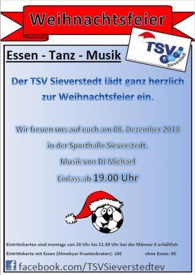 Vorschaubild zur Meldung: Weihnachtsfeier des TSV Sieverstedt