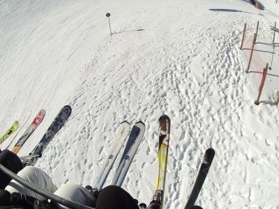 Auf dem Weg zum Skispass
