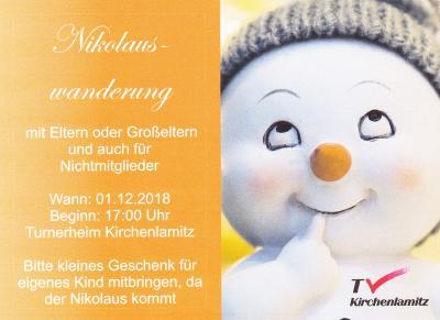 Nikolauswanderung am 01.12.2018