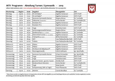 Vorschaubild zur Meldung: Alle MTV-Kurse im kommenden Jahr auf einen Blick