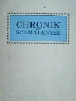 Vorschaubild zur Meldung: Vor 70 Jahren - Eine Chronik für Schmalensee