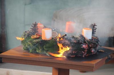 Foto zur Meldung: Wohnungsbrand – Feuergefahr im Advent