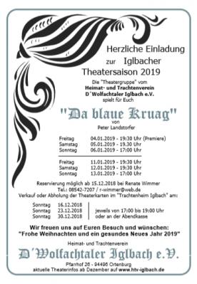 Foto zur Meldung: Theater 2019 - Da blaue Kruag (von Peter Landsdorfer)
