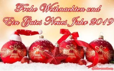 Frohe Weinachten und ein gesundes neues Jahr