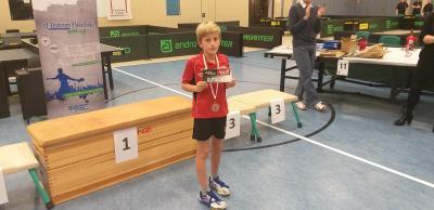 Amadeus Hanisch drückte den Landeseinzelmeisterschaften seinen Stempel auf