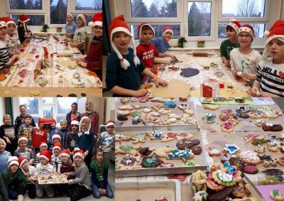 Foto zur Meldung: In der Weihnachtsbäckerei der Klasse 2