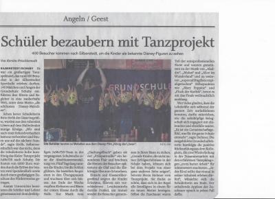 Schleswiger Nachrichten vom 10.12.2018 Bericht und Foto K. Frischkemuth