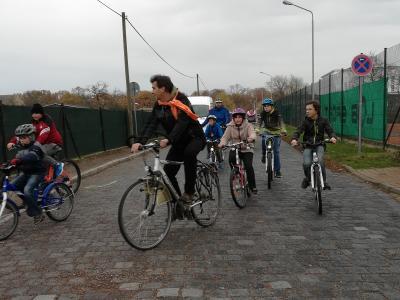 Radfahrer auf der Strecke