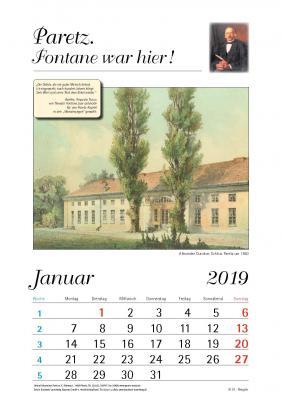 Foto zur Meldung: Paretz Kalender 2019 erschienen