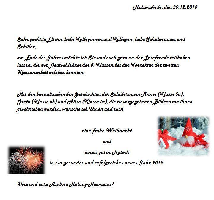 Weihnachtsgrüße An Eltern.Clara Schumann Gymnasium Weihnachtsgrüße Der Schulleitung