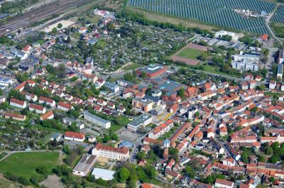 Nördliche Kernstadt von Nauen.