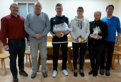 Im Bild von links: Klaus Burkhard, Karl Ortlepp, Thomas Schramm, Kerstin Burkhard, Anke Ortlepp, Wolfgang Wagenknecht.