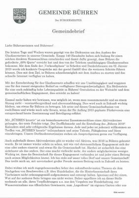Gemeindebrief 2018
