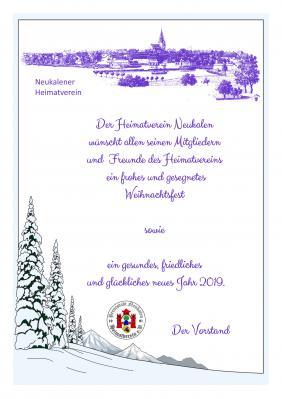 Foto zur Meldung: Weihnachts- & Neujahrsgrüße - Heimatverein