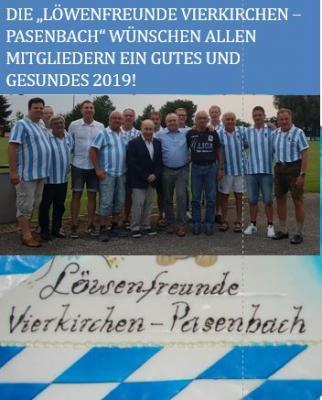 Foto zur Meldung: Ein gutes Neues Jahr wünschen die Löwenfreunde Vierkirchen - Pasenbach