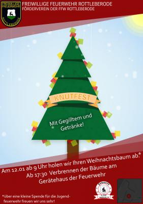 Vorschaubild zur Meldung: Am 12.01.2019  -  Knutfest 2019 - Der Baum muss raus !