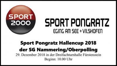Foto vom Album: Sport Pongratz Hallencup 2018