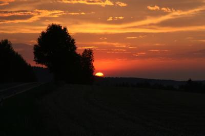 Sonnenuntergang über Rodewisch