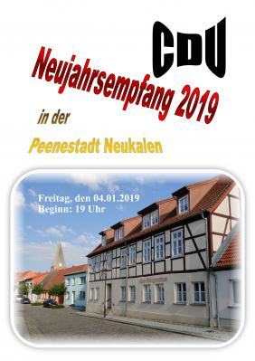 Foto zur Meldung: Neujahrsempfang der CDU 2019