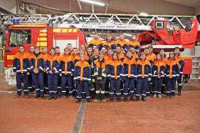 Vorschaubild zur Meldung: Wissenstest der Rosenheimer Feuerwehren   für die Jugendfeuerwehr – alle Jugendlichen erfolgreich
