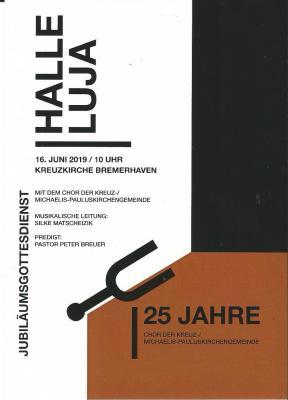 Plakat 25 Jahre Kirchenchor