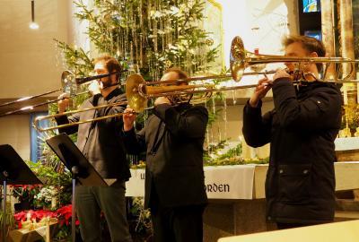 Gerhard Rott (Bläsertrio v.l.  Felix Gerhart, Ilya Khenkin und Sebastian Streicher)