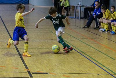 Oskar Fischer ( grünes Trikot ) zählt in Demmins E-Jugend zu den Stützen der MannschaftOskar Fischer ( grünes Trikot ) zählt in Demmins E-Jugend zu den Stützen der Mannschaft
