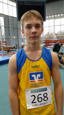 Vorschaubild zur Meldung: Bayerische Hallen Qualifikation für David Rudlof über 60m