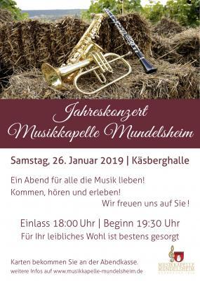 Vorschaubild zur Meldung: Jahreskonzert der Musikkapelle Mundelsheim e.V.