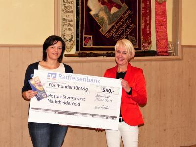 Spendenübergabe MGV Frohsinn Helmstadt - Kinderhospiz Sternenzelt Mainfranken,  Marktheidenfeld