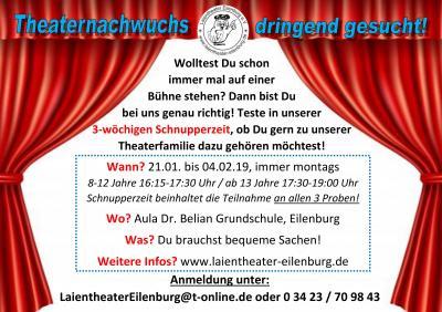 Theater-Schnupperzeit
