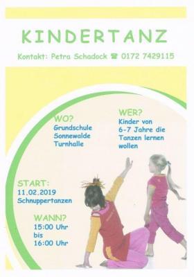 Vorschaubild zur Meldung: Tanzen: neues Angebot für Kinder