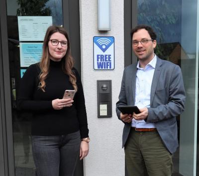Vorschaubild zur Meldung: Gemeinde Flieden nimmt kostenfreien WLAN-Hotspot in Betrieb