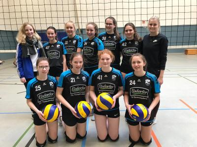 Foto zur Meldung: Erster Spieltag der U18w Volleyballerinen in Elsdorf