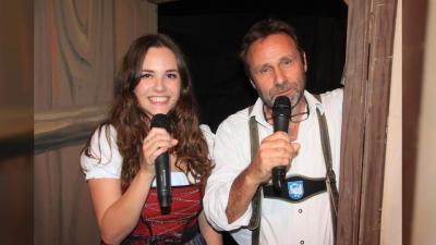 """Marzell Biggel und Vera Schwerdtle sorgten musikalisch und schwäbisch für """"Kulturiges"""". (Foto: swe)"""