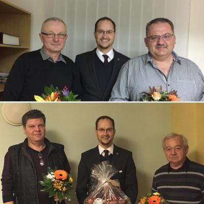 Oben: Herbert Steinhäuser, Thomas Gottweiss, Frank Brunner. Unten: Ingolf Otto, Thomas Gottweiss, Klaus Ribbe.