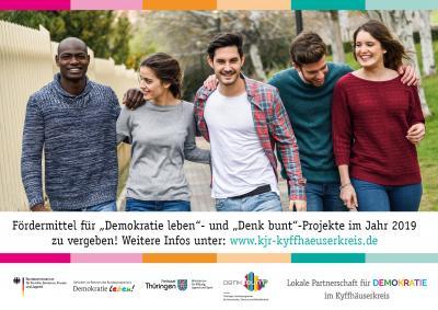 """Vorschaubild zur Meldung: Projektförderung im Rahmen von """"Demokratie leben!"""""""