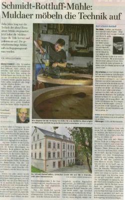 Vorschaubild zur Meldung: Rottluff-Mühle-Freie Presse Freiberg vom 30.01.2019